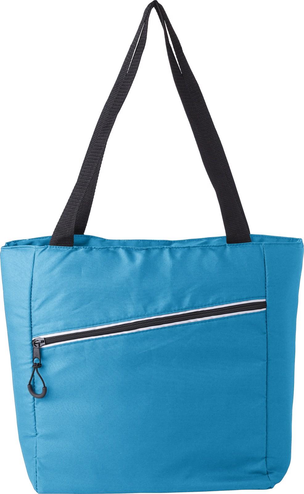 Pongee (75D) cooler bag - Light Blue