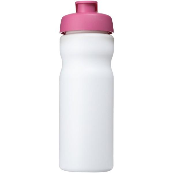 Baseline® Plus 650 ml flip lid sport bottle - White / Pink