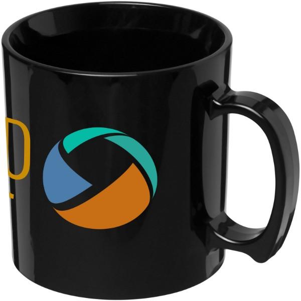 Standard 300 ml plastic mug - Solid black