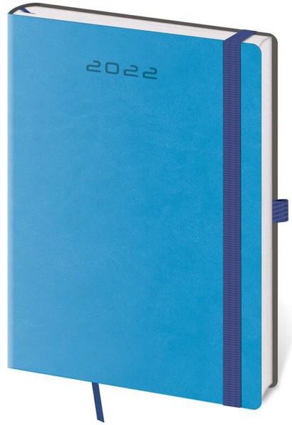 Denní diář A5 Flexies modrý s poutkem 2022