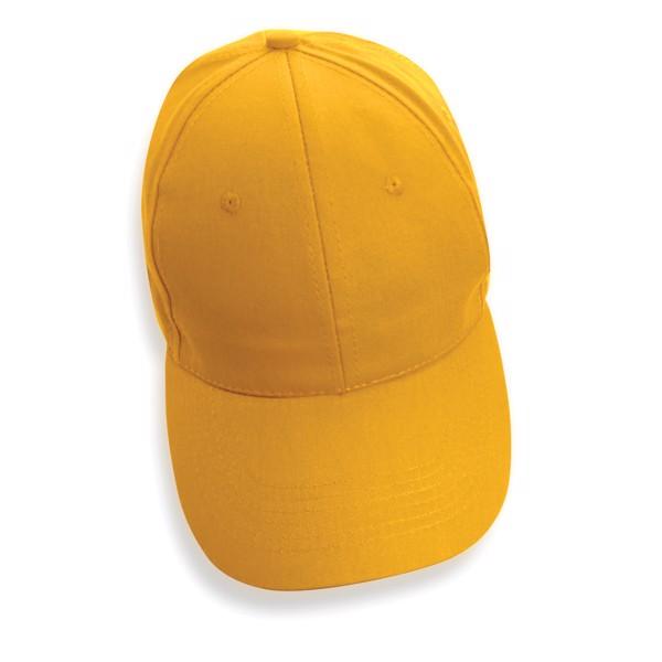 6 dílná kšiltovka Impact ze 190g recyklované bavlny AWARE™ - Žlutá