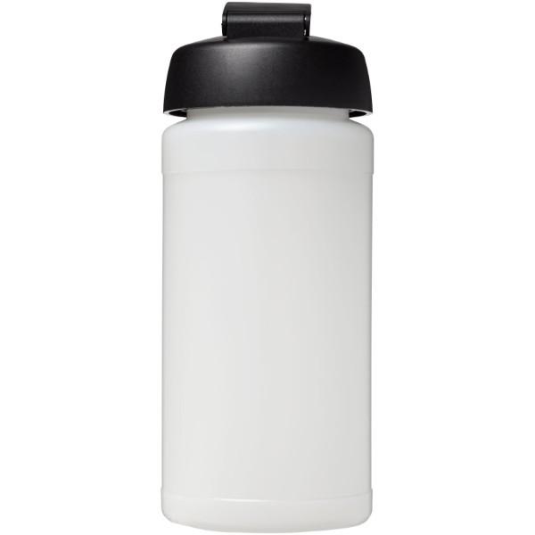 Sportovní láhev s vyklápěcím víčkem Baseline® Plus 500 ml - Průhledná / Černá