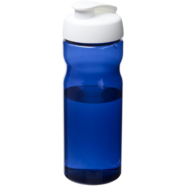 H2O Eco 650 ml flip lid sport bottle - Blue / White
