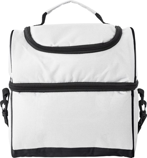 Polyester (600D) cooler bag - White