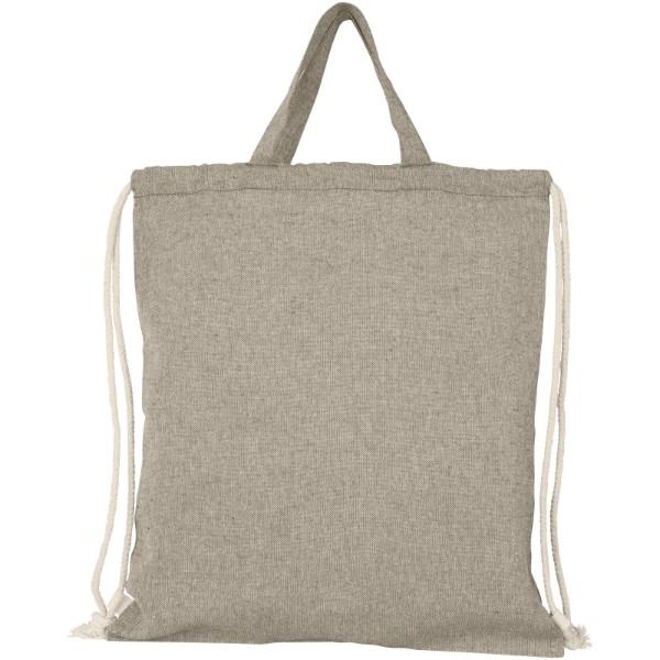 Pheebs batoh se stahovací šňůrkou ze směsi recyklované bavlny a polyesteru 150 g/m² - Heather natural
