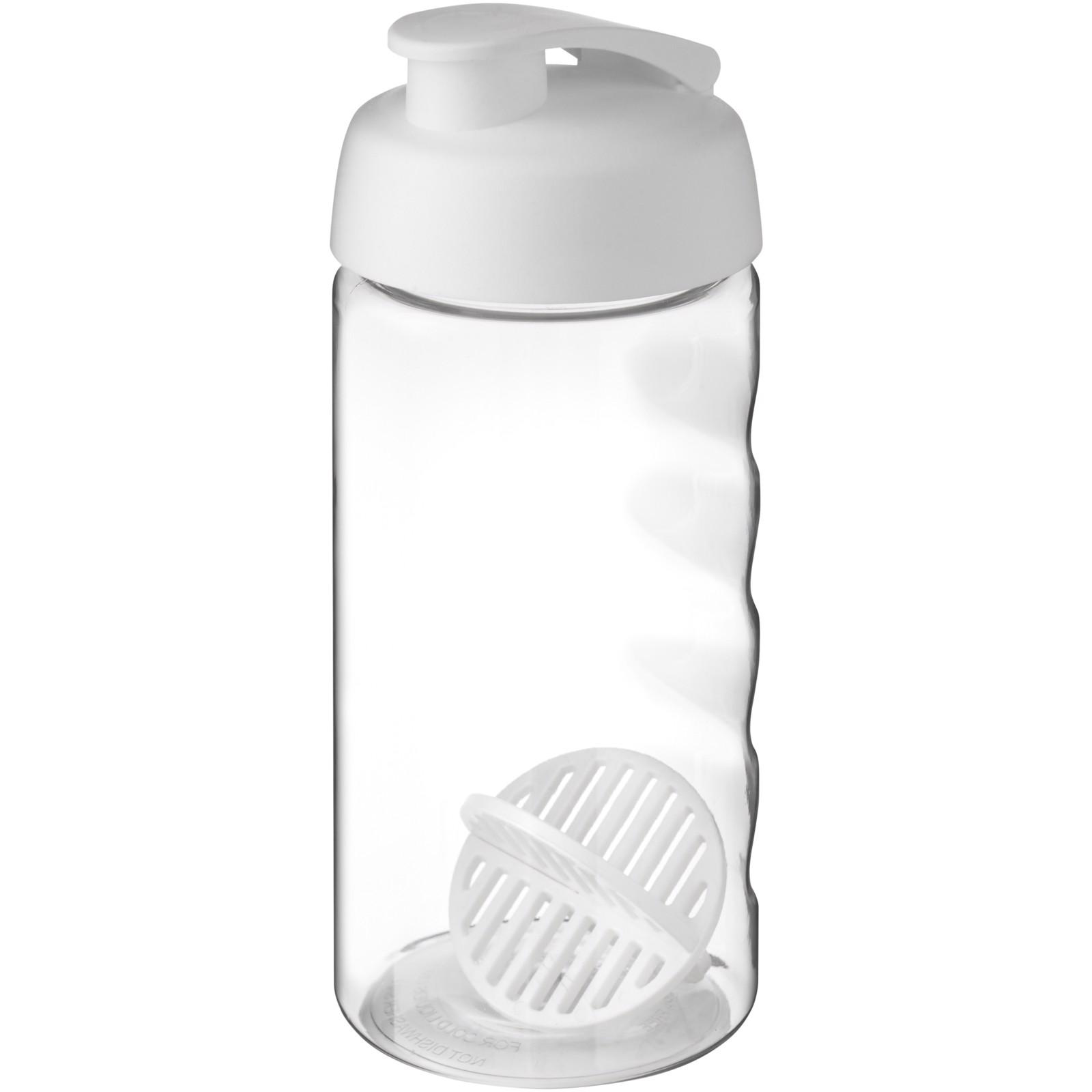 H2O Active Bop 500ml šejkrová lahev - Bílá / Průhledná