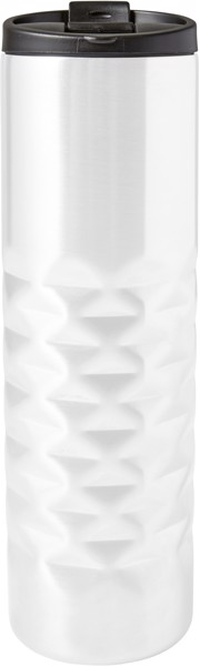 Stainless steel mug - White