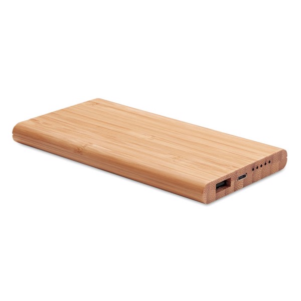Wireless power bank in bamboo Arena