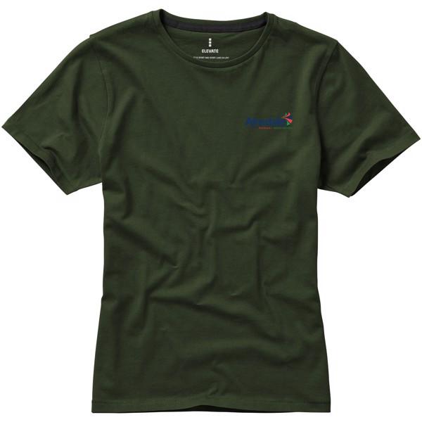 Dámské triko Nanaimo s krátkým rukávem - Vojenská zelená / S
