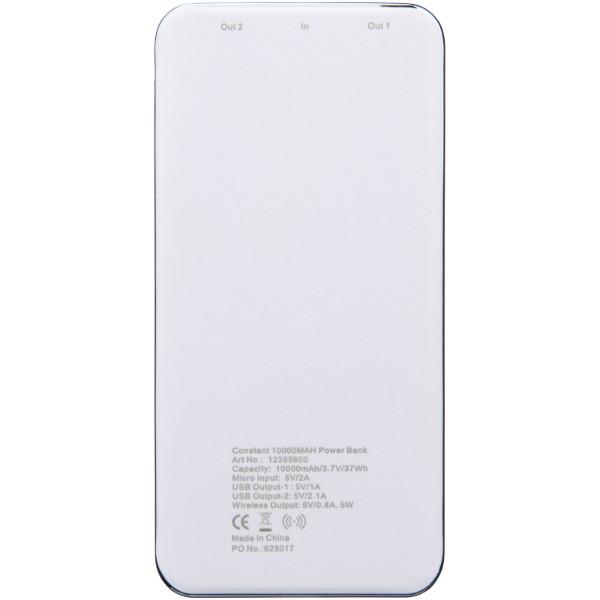 """Batería inalámbrica de 10000 mAh con LED """"Constant"""" - Blanco"""
