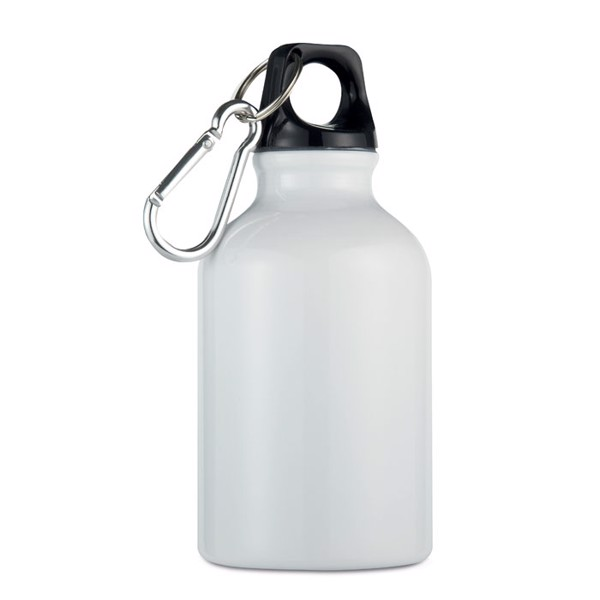 300ml aluminium bottle Moss - White
