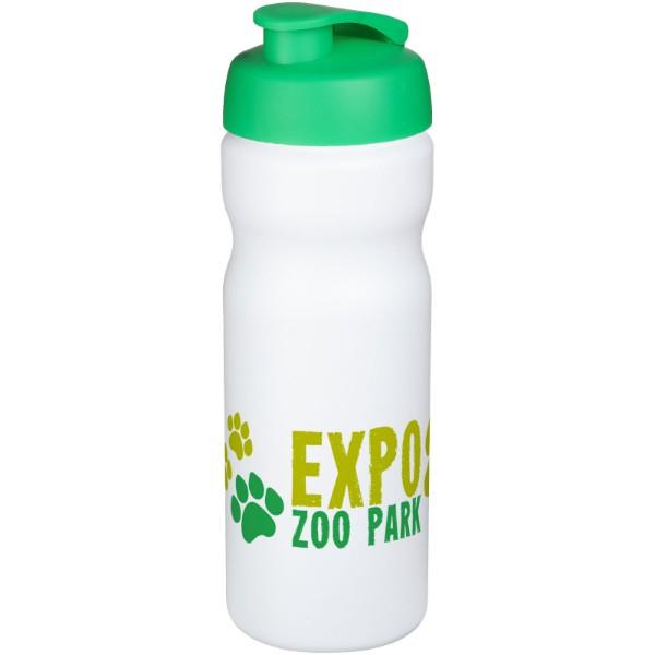 Baseline® Plus 650 ml flip lid sport bottle - White / Green