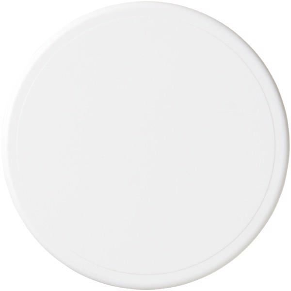 Kulatý plastový tácek Renzo - Bílá