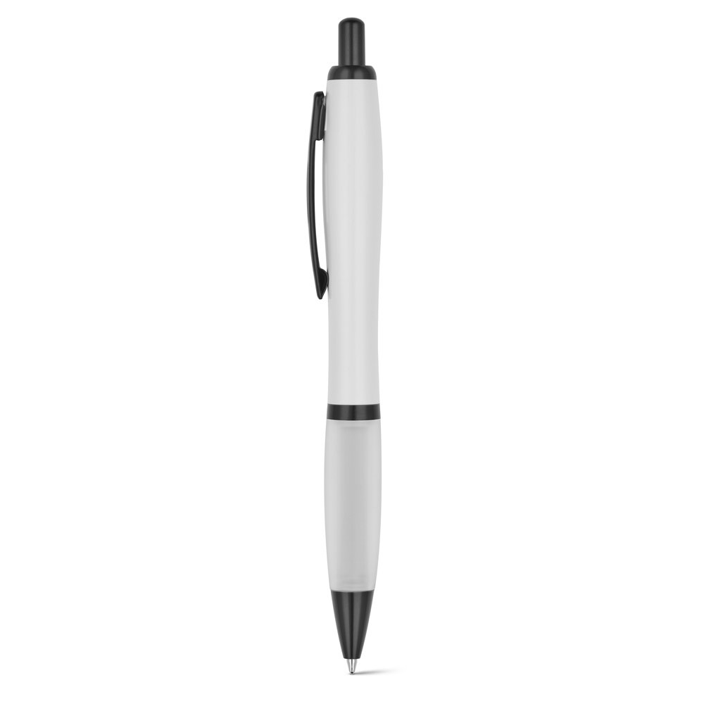 FUNK. Ball pen with metal clip - White