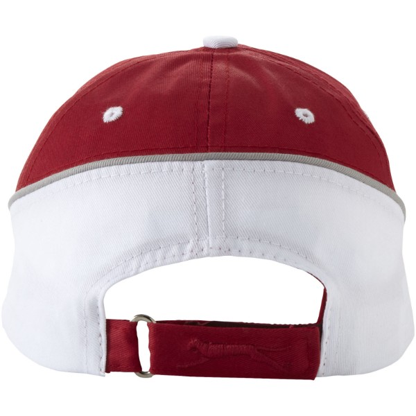 Draw 6 panel cap - Red / White