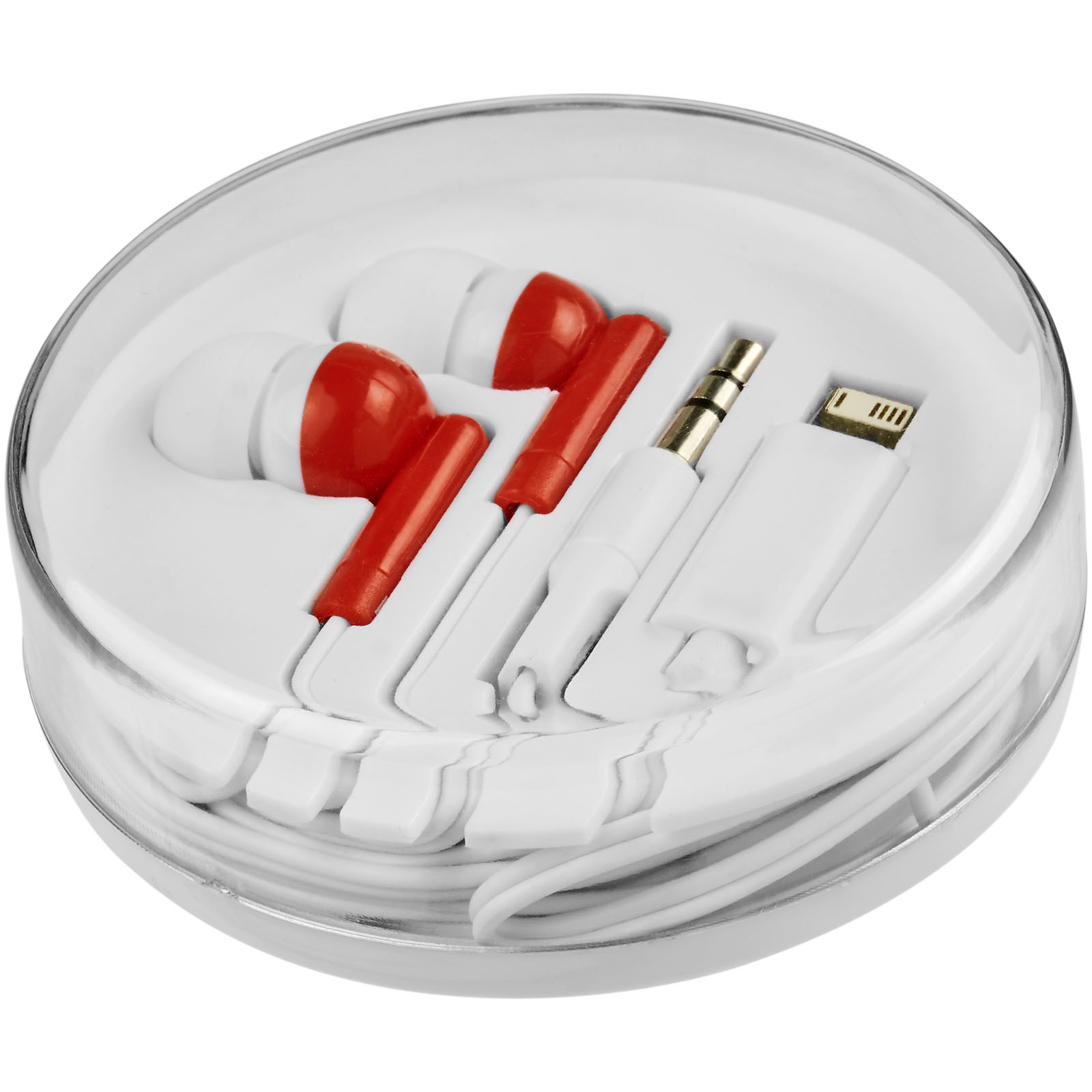 Switch earbuds with multi tips - Red
