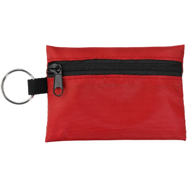 Valdemar 16-piece first aid keyring pouch - Red