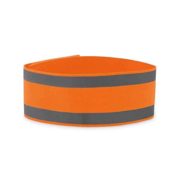 Opaska sportowa na ramię Visible Me - fluorescencyjny pomarańczowy