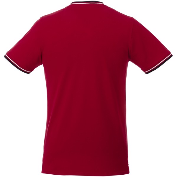Elbert short sleeve men's pique t-shirt - Red / Navy / White / L