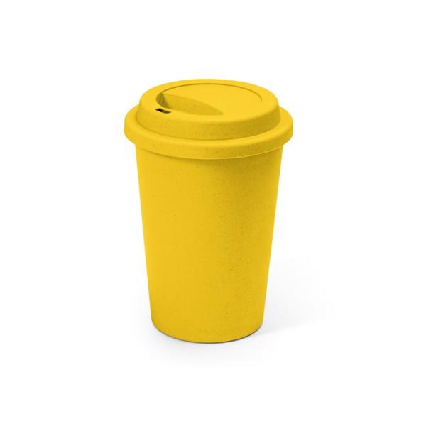 BACURI. Travel cup 450 ml - Yellow