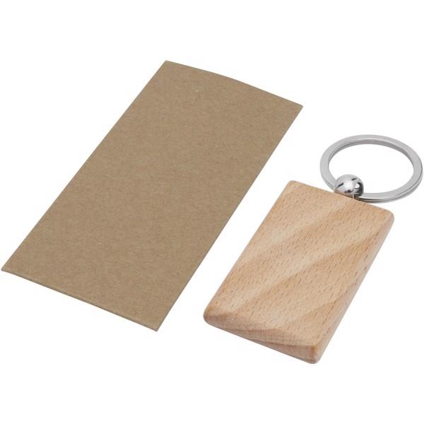 "Llavero rectangular de madera de haya ""Gian"""