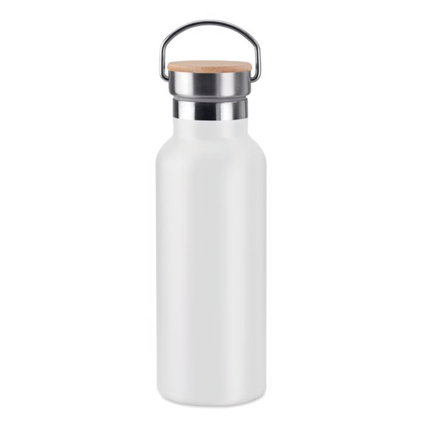 Double wall flask 500 ml Helsinki - White