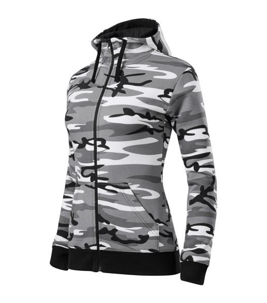 Mikina dámská Malfini Camo Zipper - Camouflage Gray / 2XL