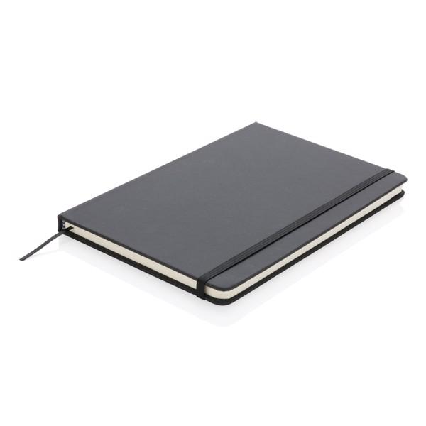 Standardní poznámkový blok A5 v pevných deskách z PU - Černá