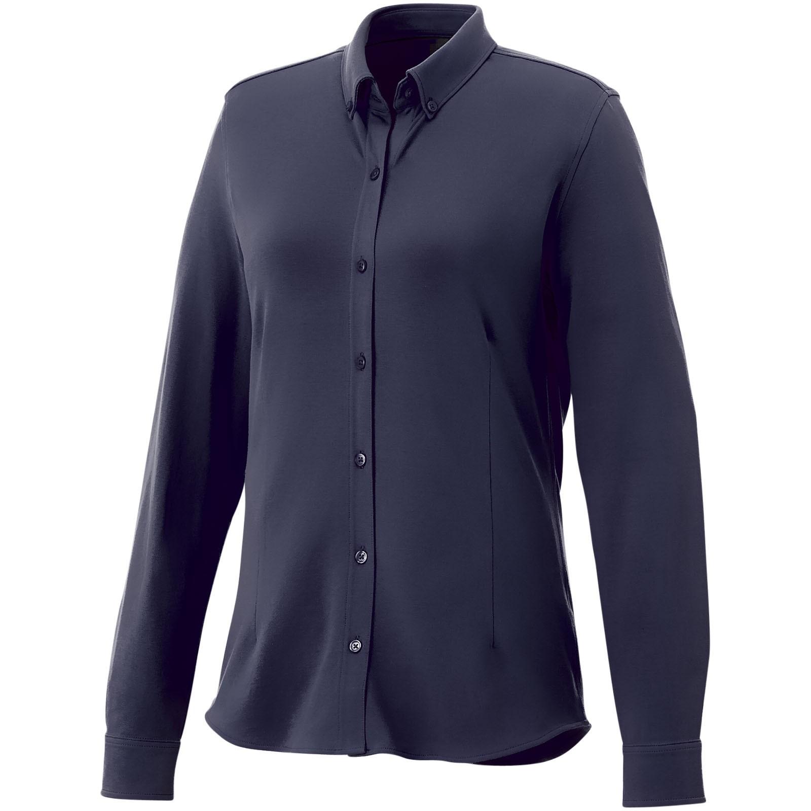 Bigelow long sleeve women's pique shirt - Navy / XL