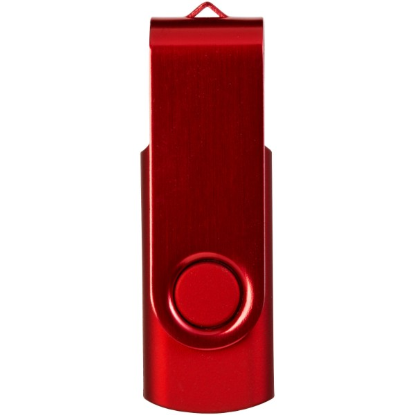 Rotate-metallic 2GB USB flash drive - Red