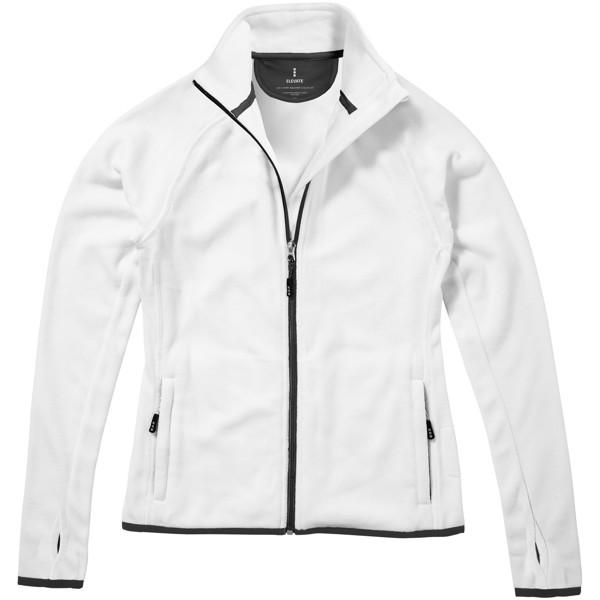 Brossard micro fleece full zip ladies jacket - White / M