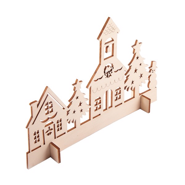 Xmas Town wooden cut-out