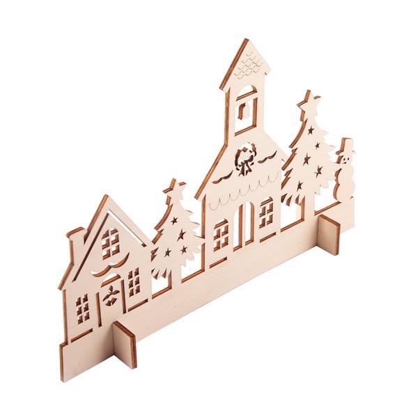 Drewniana wycinanka Xmas Town