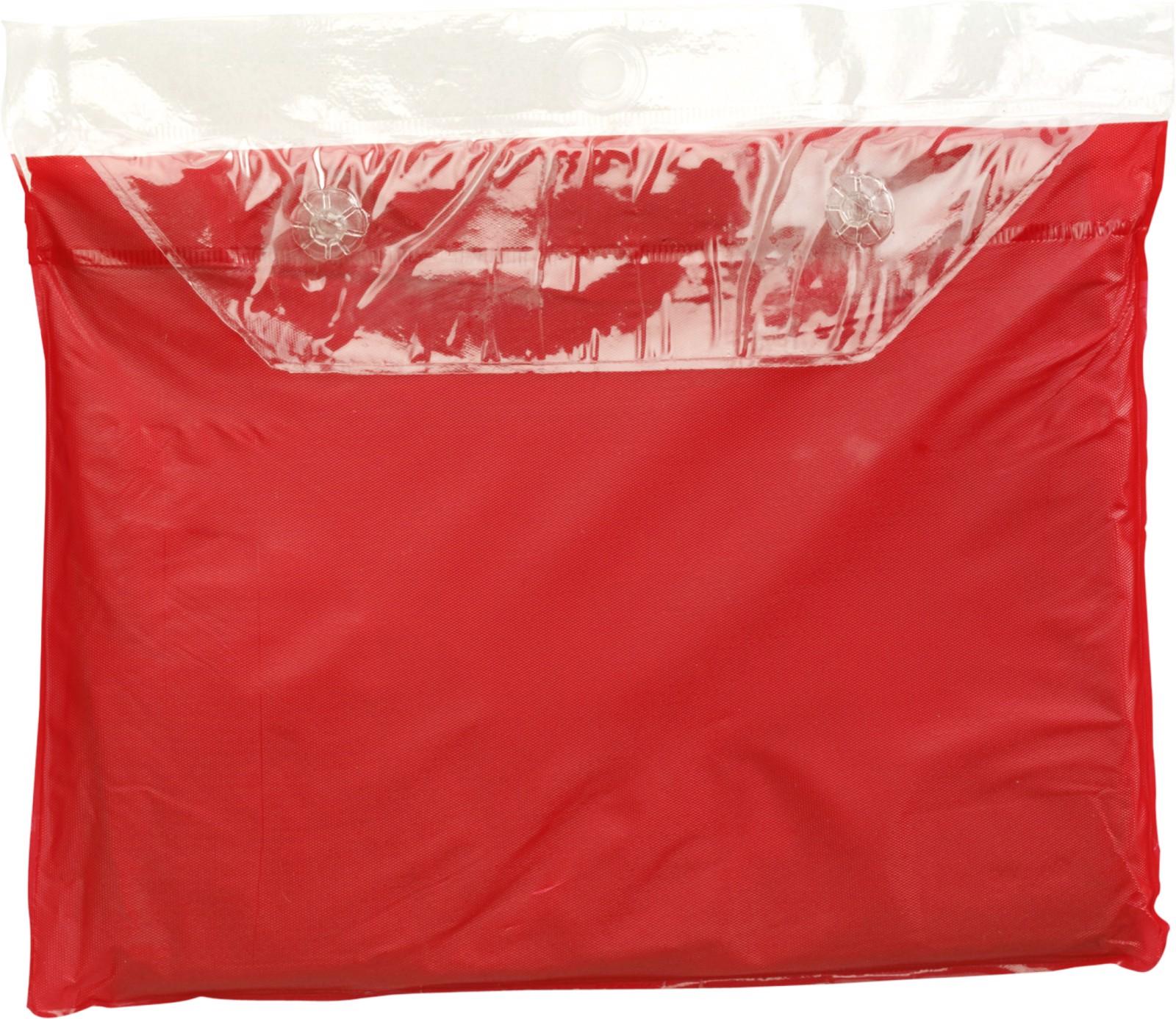 Vinyl poncho - Red