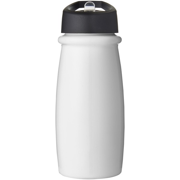H2O Pulse 600 ml spout lid sport bottle - White / Solid black