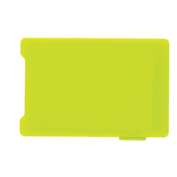 Pouzdro na více karet s RFID ochranou - Limetková