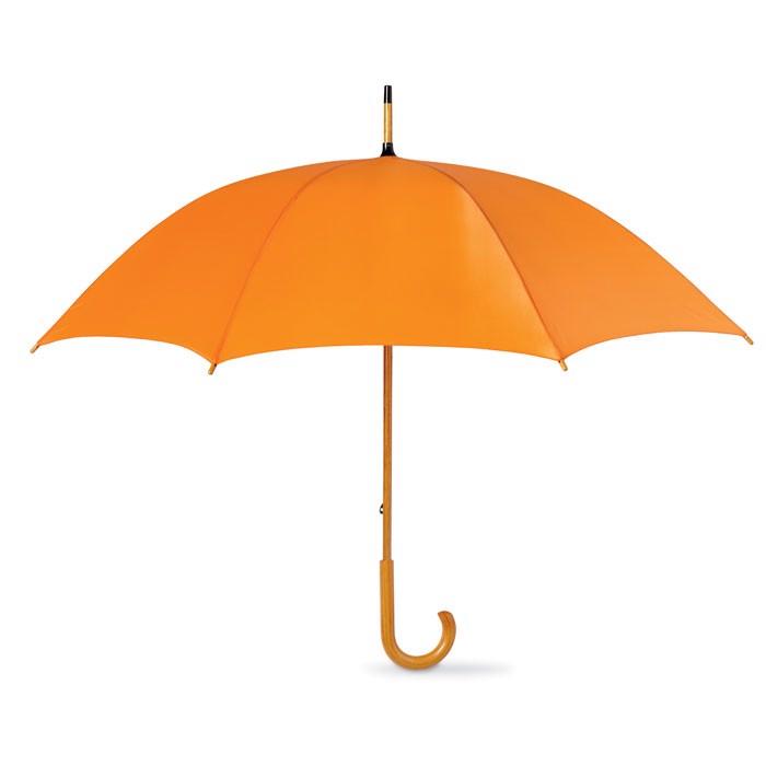 Regenschirm mit Holzgriff Cala - orange