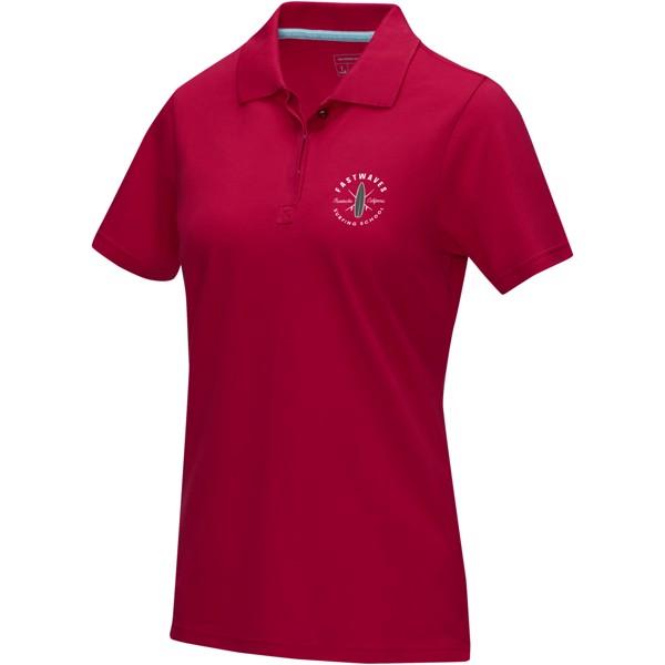 Graphite short sleeve women's GOTS organic polo - Red / XS