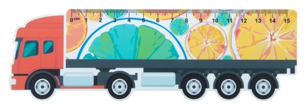 15 Cm Pravítko Trucker 15, Kamion - Bílá