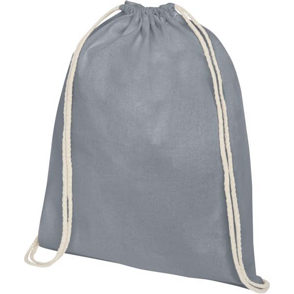 Oregon 140 g/m² cotton drawstring backpack - Grey