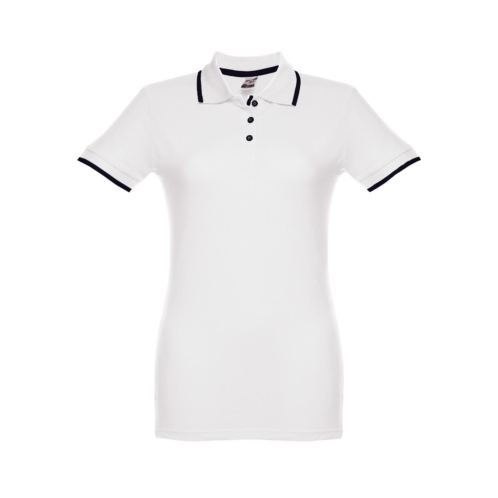 ROME WOMEN. Γυναικεία πόλο μπλούζα slimfit - Λευκό / S