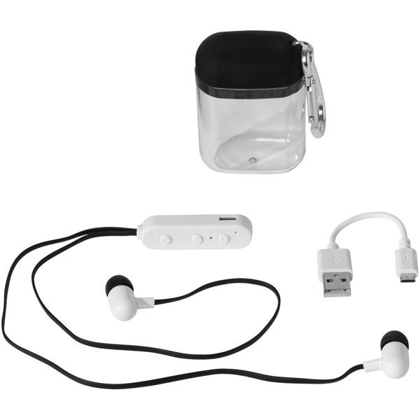 Sluchátka Budget Bluetooth® s pouzdrem a karabinkou