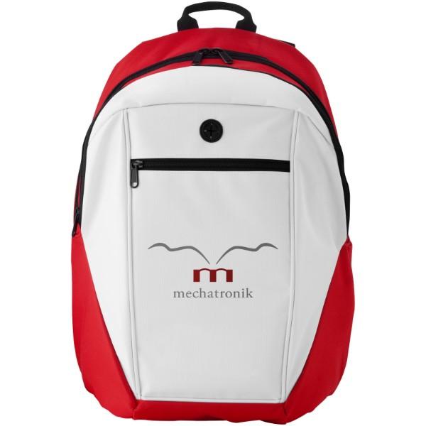 Ozark headphone port backpack - Red / White / Solid black