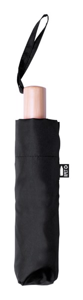 Umbrelă Brosian, Material Reciclat Rpet - Negru / Natural