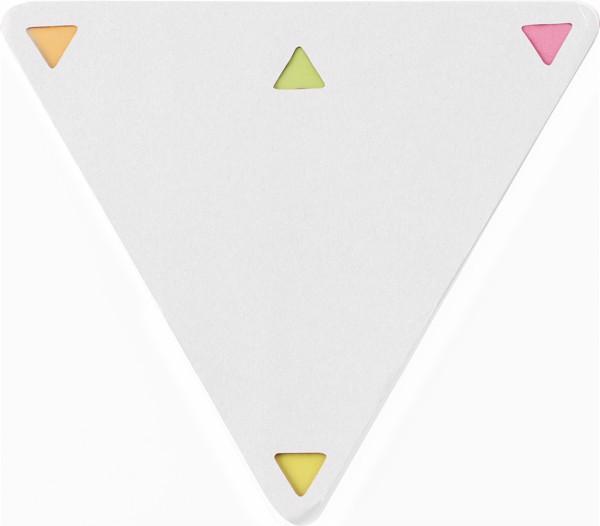 Haftnotizen 'Tri' aus Papier - White