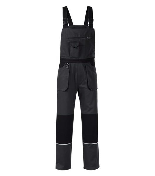 Pracovní kalhoty s laclem pánské Rimeck Woody - Ebony Gray / XL