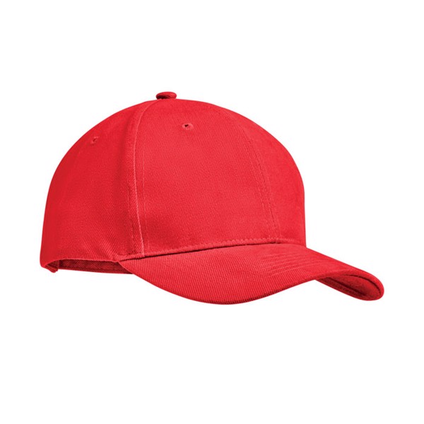 Brushed heavy cotton 6 panel Ba Tekapo - Red