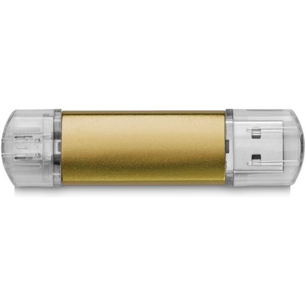Rotační kovové USB OTG - Zlatá / 2GB