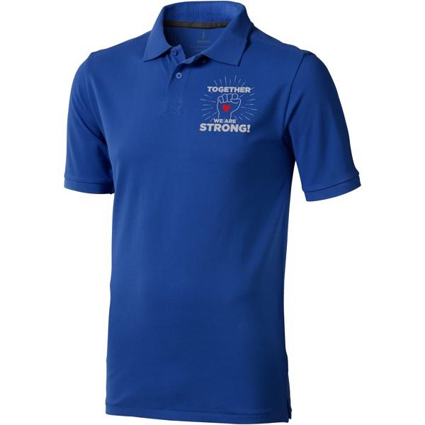 Calgary short sleeve men's polo - Blue / XXL