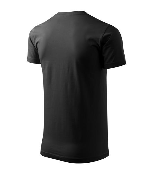 Tričko unisex Malfini Heavy New - Černá / 4XL